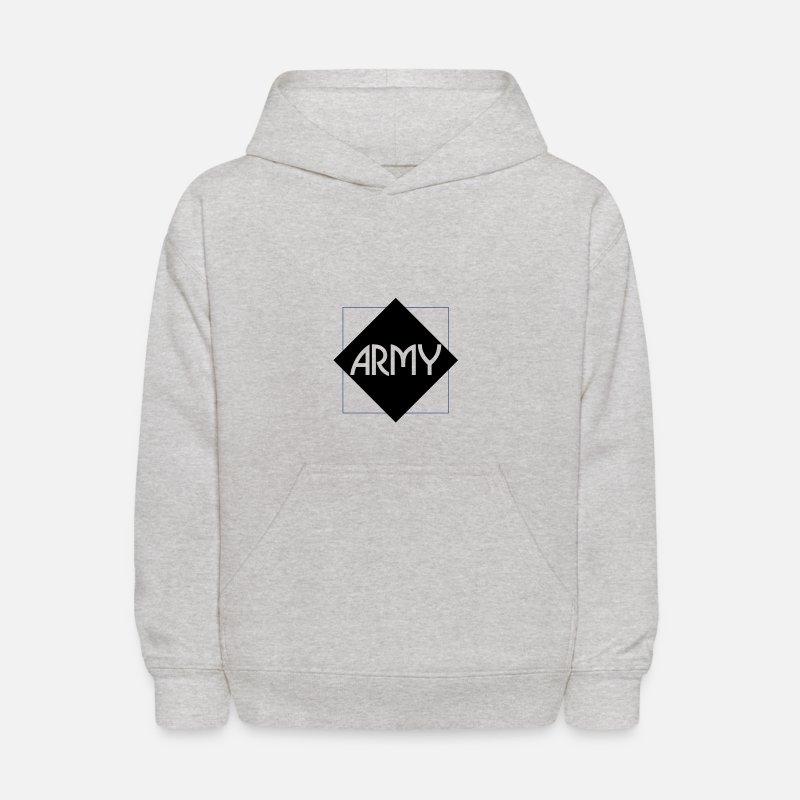 9fe06f96 ARMY (v) Kids' Hoodie - heather gray