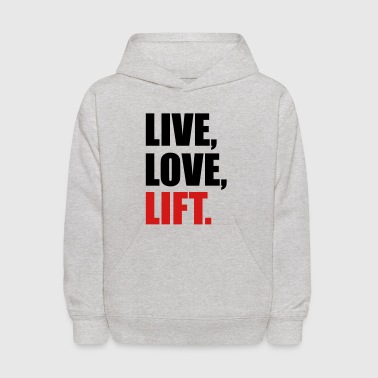 weight lifting - Kids' Hoodie