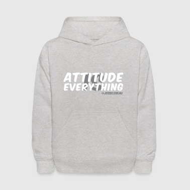 AIE Attitude Overlay White - Kids' Hoodie
