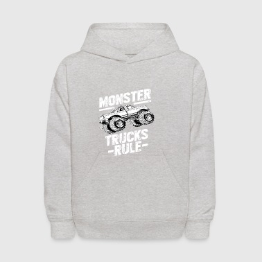 MONSTER TRUCKS RULE Tshirt - Kids' Hoodie