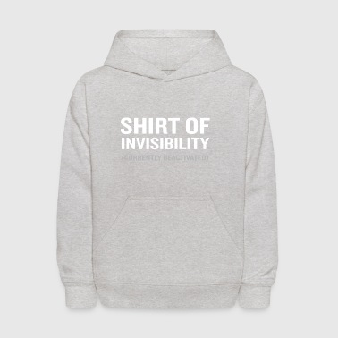 Shirt of Invisibility Lover Funny Geek Wizard - Kids' Hoodie