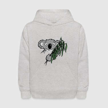cute little koala bear with eucalyptus as a gift - Kids' Hoodie