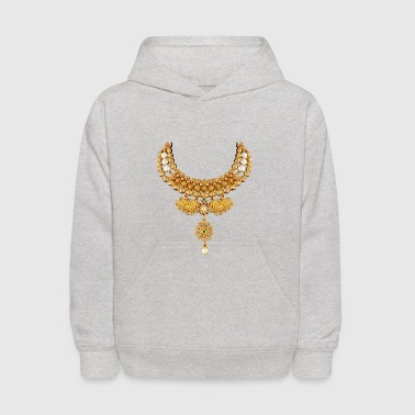 indian necklace jewelry gemstone bling tshirt / cu - Kids' Hoodie