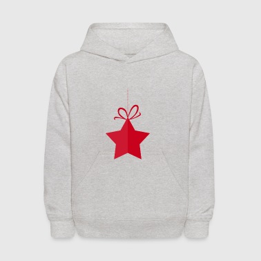 Christmas Star Decoration Tree Lametta Deco Gift - Kids' Hoodie