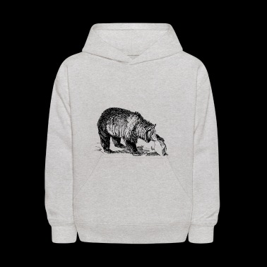 wild bear polar teddy bears brown grizzly panda ba - Kids' Hoodie