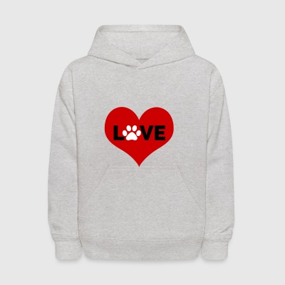 Love paw | Fall in Love | Pet lovers - Kids' Hoodie