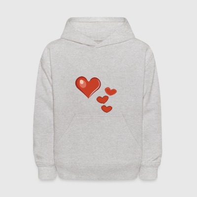 Heart in love Valentine's Day heart red - Kids' Hoodie