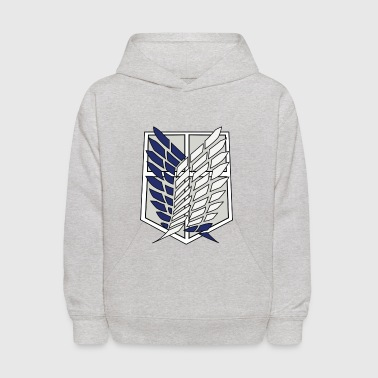 attack on titan survey corps logo - Kids' Hoodie