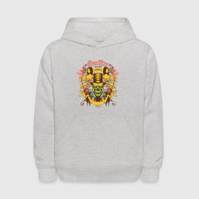 gamblers_skulls_and_girls - Kids' Hoodie