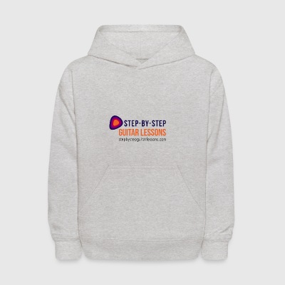 Step-by-step Guitar Lessons Logo Dark - Kids' Hoodie