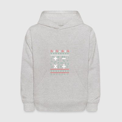 Math Ugly Christmas Sweater Funny Holiday Dog T-Sh - Kids' Hoodie
