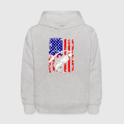Fishing In The USA Tee Shirt - Kids' Hoodie