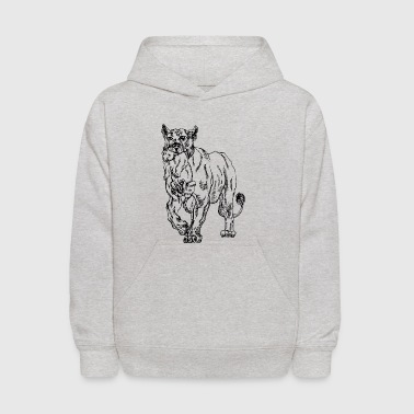 mother_lion_with_baby_lion - Kids' Hoodie