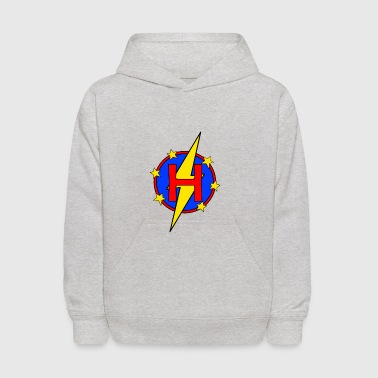 My Little Super Hero Kids & Baby Letter H - Kids' Hoodie