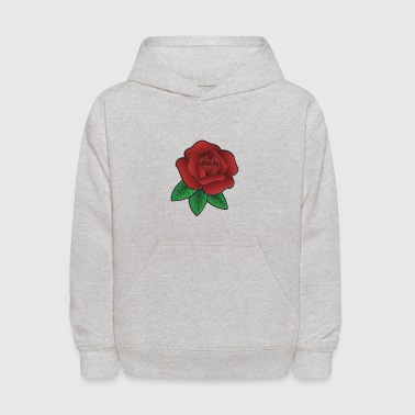 Red Rose Illustration - Kids' Hoodie
