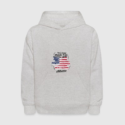 THERAPIE URLAUB AMERICA USA TRAVEL Athens - Kids' Hoodie