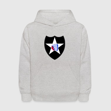 2nd Infantry Division for military supporters - Kids' Hoodie