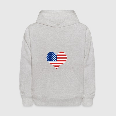 Big Heart - Fourth of July | Independence Day - Kids' Hoodie