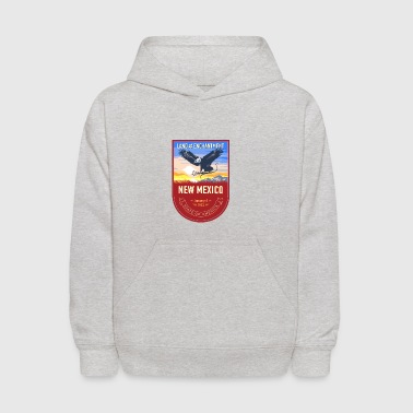 Eagle logo New Mexico America vector art cartoon - Kids' Hoodie