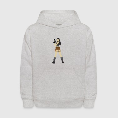 A Sexy Grave Hunter With Two Guns - Kids' Hoodie