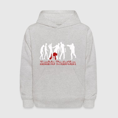 Funny Zombie Evolution Shirt - Kids' Hoodie