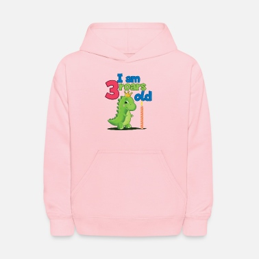 3 years birthday dinosaur - Kids' Hoodie