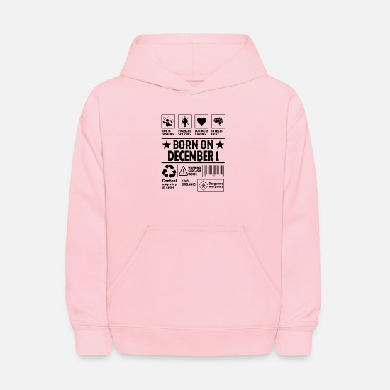 December Hoodies & Sweatshirts - Born on December - Kids' Hoodie pink