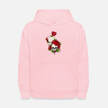 Rose SKULLS AND ROSES - Kids' Hoodie