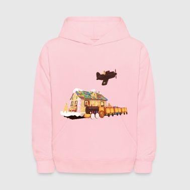 The candy train - Kids' Hoodie