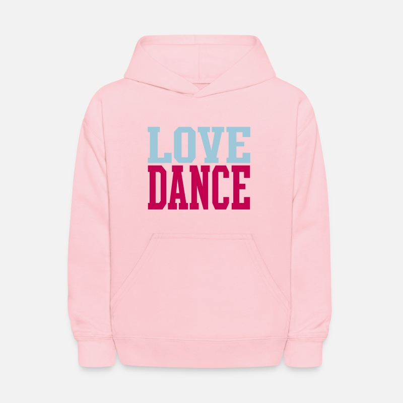 Dance Hoodies & Sweatshirts - Love Dance Dual Color - Kids' Hoodie pink