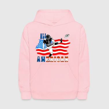 All American Football Field Goal Kicker - Kids' Hoodie