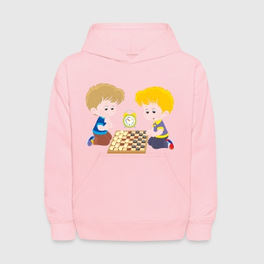 Children play checkers - Kids' Hoodie