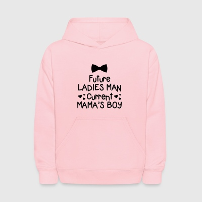 Future Ladies Man Current Mama's Boy Valentine - Kids' Hoodie