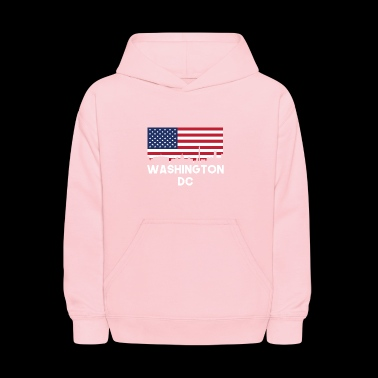Washington DC American Flag Skyline - Kids' Hoodie