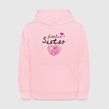 Little Sister with Cute Hearts - Kids' Hoodie