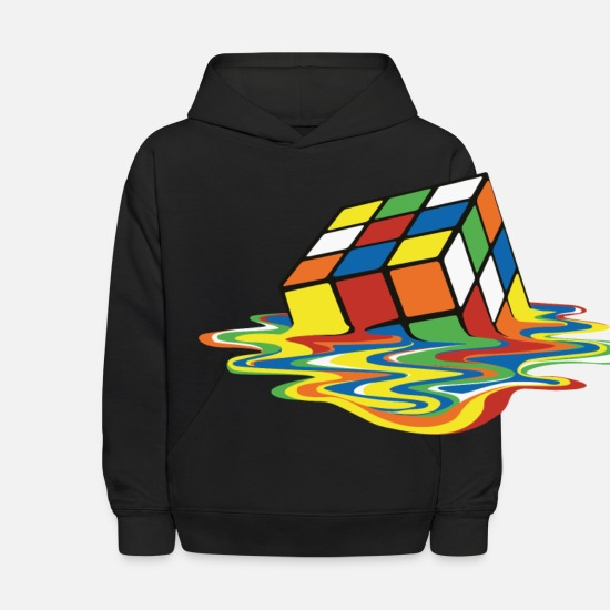 Cube Hoodies & Sweatshirts - meltingcube - Kids' Hoodie black