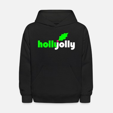 Holly Holly Jolly Vector - Kids' Hoodie