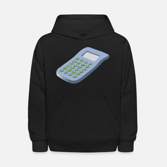 Red Hoodies & Sweatshirts - calculator - Kids' Hoodie black