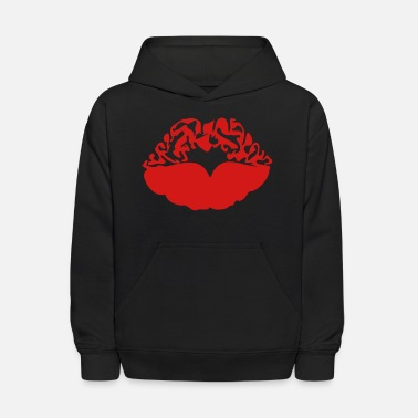 Deadly Sexy Vampire Luscious Red Lips Design For ♥ټXxSexy Tattooed Luscious Sensual Lips xXټ♥ - Kids' Hoodie