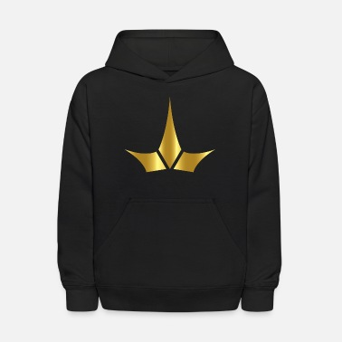 King prince monarch VIP golden crown gold image - Kids' Hoodie