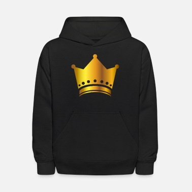 King prince gold VIP crown lable vector image fun - Kids' Hoodie