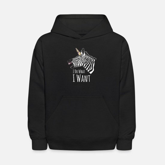 Zebra Hoodies & Sweatshirts - Zebra herd nature hoof black pattern - Kids' Hoodie black