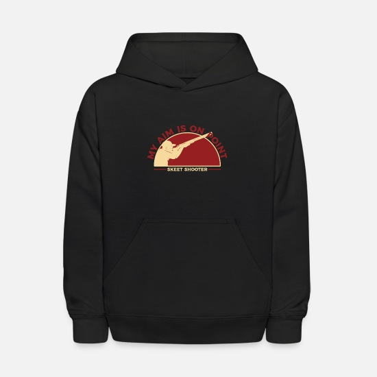 Gun Hoodies & Sweatshirts - Skeet Shooting gift - Kids' Hoodie black