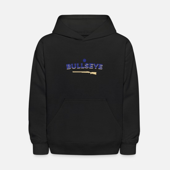 Shooting Hoodies & Sweatshirts - Skeet Shooting bull's eye - Kids' Hoodie black