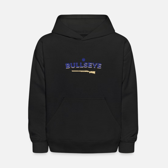 Trap Hoodies & Sweatshirts - Skeet Shooting bull's eye riffle - Kids' Hoodie black