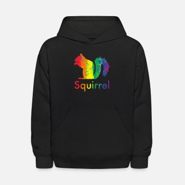 Text Rainbow Squirrel - Kids' Hoodie