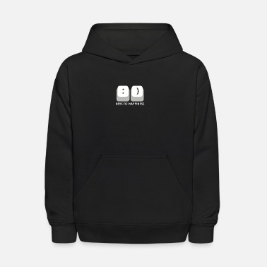 KEYS TO HAPPINESS - Puns - D3 Designs - Kids' Hoodie