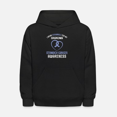 Stomach I Wear Periwinkle For My Grandma Stomach Cancer - Kids' Hoodie