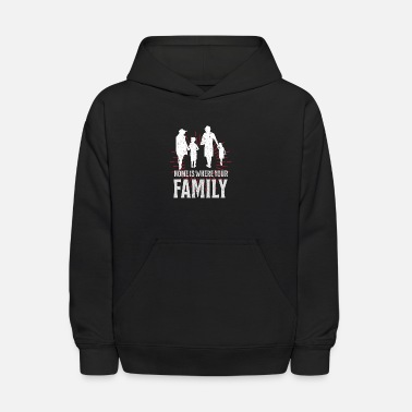 Nuclear Family Unconditional Love Gift Ideas T-Shirt - Kids' Hoodie