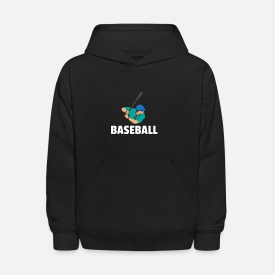 Birthday Hoodies & Sweatshirts - Baseball Baseballing Player Baseballer Game Gift - Kids' Hoodie black